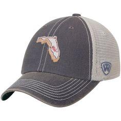 Men's Top of the World Charcoal Florida State Seminoles United Trucker Adjustable Snapback Hat