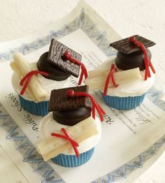 Cupcakes para una fiesta graduación / Cupcakes for a graduation party