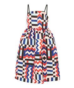 EDIT Multicoloured Print Strappy Dress