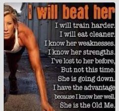 I LOVE THIS!! She is the old me, and I will beat her!!