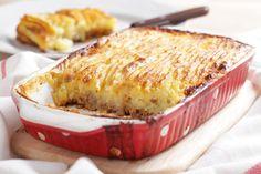 Gehakt met aardappelpuree en bloemkool