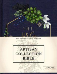 NIV Artisan Collection Bible--cloth over board, navy floral Word Design, Edge Design, Niv Bible, Words Of Jesus, Custom Fonts, Inspirational Artwork, Spiritual Gifts, Type Setting, Custom Paint