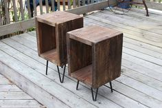 These end tables are sold as a pair. They will compliment just about any interior design from rustic to modern. They are very durable, so will last many generations. These tables are offered in severa