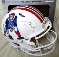 TOM BRADY Hand Signed Authentic Revolution Throwback Helmet - Game Day Legends