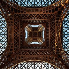 travelthisworld:    Steel Patterns - Eiffel Tower, Paris, France | by Philipp Klinger