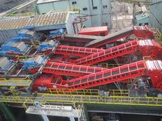 6 x Electro Overband Magnets installed in a handling plant in processing 9000 tonnes per hour. The Magnets removes all tramp metal Coal Mining, Tonne, Golden Gate Bridge, Russia, Magnets, Metal, Plants, Blog, Design