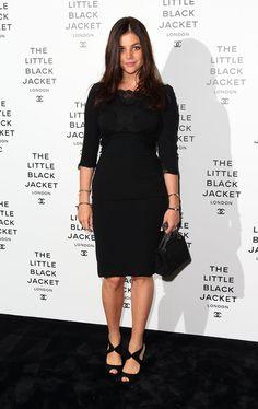 Julia Restoin-Roitfeld at Chanel's The Little Black Jacket exhibition in London.