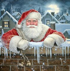 Solve Christmas - - Have you been naughty or nice? jigsaw puzzle online with 49 pieces Christmas Scenes, Christmas Art, All Things Christmas, Vintage Christmas, Christmas Decorations, Christmas Drawing, Cross Paintings, Father Christmas, Christmas Pictures