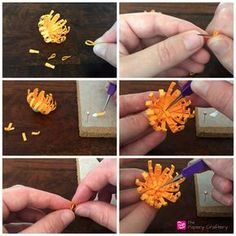 FinishingQuillingPaperMums - How to Make Quilling Paper Mums