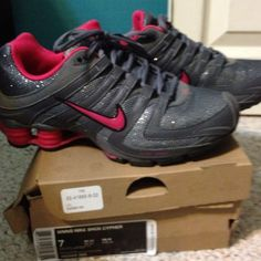 newest d91f8 482a3 cheapshoeshub com Cheap Nike free run shoes outlet, discount nike free  shoes My new Nike Shox~ Sparkle gray and hot pink.oh yeah, I love NEW shoes!