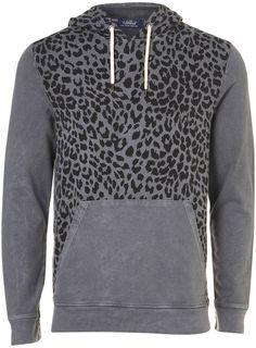 Grey Limited Edition Leopard hoody, from Topman Fashion Menswear, Mens Fashion, Fashion Outfits, Men's Wardrobe, Long Hoodie, Shirt Jacket, Fashion Forward, Style Me, Men Sweater