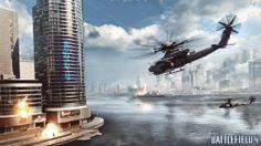 Hintergrundbilder Battlefield Battlefield 4 Hubschrauber Wolkenkratzer Flug Spiele 3D-Grafik