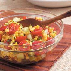 Tomatoes Stuffed with Grilled Corn Salad | Recipe | Grilled Corn Salad ...