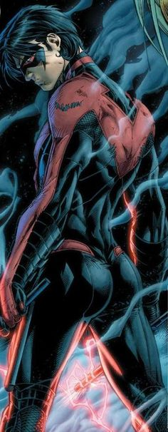 Nightwing. I like the blue version better, but red also looks great.
