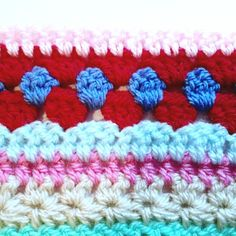 Alright everyone, let's beast out week Using US terms, last week we ended on row row With new color, work the star stitch pattern (instructions here). row 105 With new color… Striped Crochet Blanket, Crochet Blanket Edging, Crochet Bedspread Pattern, Crotchet Patterns, Crochet Stitches Patterns, Scrap Yarn Crochet, Crochet Hot Pads, Crochet Stitches For Beginners, Popcorn Stitch