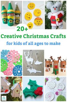 Paper crafts, sewing projects, ornaments, wreaths and much more. Christmas is a wonderful time to get crafty. These creative Christmas crafts for kids are great for kids of all ages to make. Kids Make Christmas Ornaments, Preschool Christmas Crafts, Holiday Crafts For Kids, Christmas Activities, Diy Crafts For Kids, Handmade Christmas, Christmas Fun, Fun Crafts, Paper Crafts