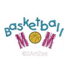 Basketball Mom Machine Embroidery Design Game by 2artzee on Etsy, $3.99