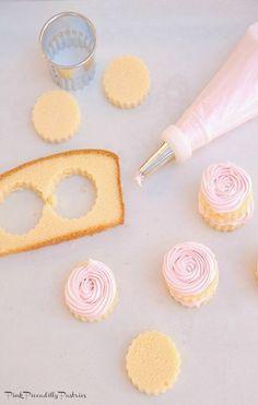 Easy Mini Cakes using store bought pound cake!