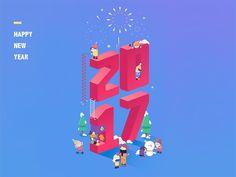happy new year by IanSui #Design Popular #Dribbble #shots