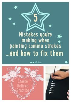 Learn to paint the perfect comma strokes today. Are you making some of these common errors? No problem, they're easy to fix. Let us tell you how. All of our add on kits and Folky Christmas kit teach you how to paint these versatile brush strokes too. Kits available from www.folkit.co