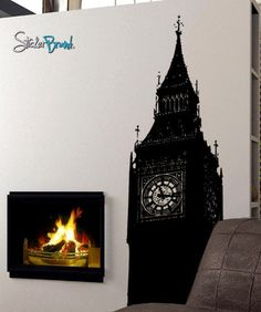 Vinyl Wall Decal Sticker London Big Ben Clock #260 | Stickerbrand wall art decals, wall graphics and wall murals.