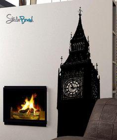 Vinyl Wall Decal Sticker London Big Ben Clock #260 | Stickerbrand wall art decals, wall graphics and wall murals.