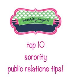 looking for tips on promoting your chapter? <3 BLOG LINK: http://sororitysugar.tumblr.com/post/36826646087/top-10-sorority-public-relations-tips#notes