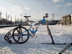 après la motoneige, le véloneige ! need ! (si j'habitais au pôle nord !)