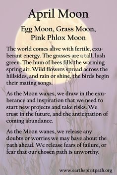 The Earth Spirit Path New Moon Rituals, Full Moon Ritual, Birth Month Quotes, Full Moon Names, Moon Meaning, Moon Spells, Wiccan Spell Book, Moon Quotes, Moon Witch