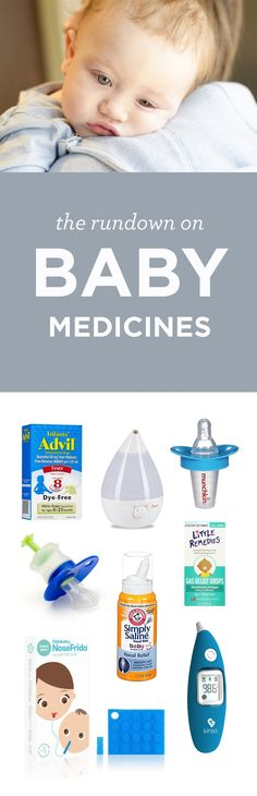 Cold and flu season is the WORST. Click through for all the baby medicine and baby gear you'll need to make it through baby's first cold!