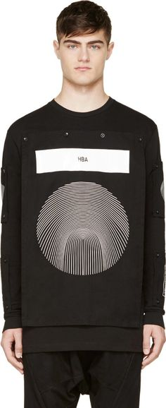 Hood by Air: Black & White Removable-Patch Shirt | SSENSE