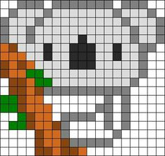 theme ours panda koala - Page 2 Melty Bead Patterns, Pearler Bead Patterns, Perler Patterns, Beading Patterns, Perler Bead Templates, Diy Perler Beads, Perler Bead Art, Pearler Beads, Cross Stitch Designs