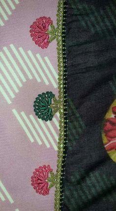 This Pin was discovered by Mel Saree Tassels Designs, Saree Kuchu Designs, Blouse Designs, Hand Embroidery, Embroidery Designs, Saree Border, Crochet Borders, Saree Dress, Fabric Manipulation