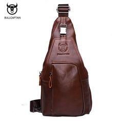 3beef78221ef BULL CAPTAIN 2017 Small FAMOUS Brand messenger bag MEN Shoulder BAGS  Fashion GENUINE Leather MALE Crossbody Bag zipper buckle 86