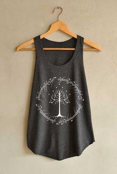 Ringe Tree Design T-Shirts Tank-Top Frauen von blackpearlmaker