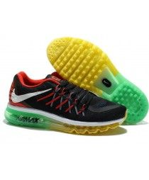 6f61af6ce2575 Buy Mens Running Shoes Nike Air Max 2015 Black Yellow Green Red White  Lastest from Reliable Mens Running Shoes Nike Air Max 2015 Black Yellow  Green Red ...