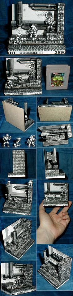 TMNT Fall of the Foot Clan Papercraft Diorama by kramwartap.deviantart.com on @deviantART