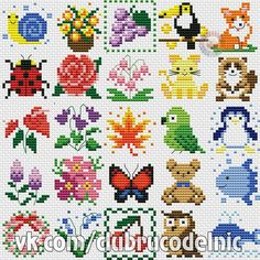 This type of photo is absolutely a magnificent design principle. Tiny Cross Stitch, Baby Cross Stitch Patterns, Cross Stitch Borders, Cross Stitch Animals, Cross Stitch Flowers, Cross Stitch Designs, Cross Stitching, Cross Stitch Embroidery, Embroidery Patterns