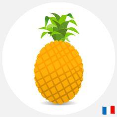 E-liquide ananas français : 10 ml - nicotine : 0, 6, 11 ou 18 mg. 4,90 €.