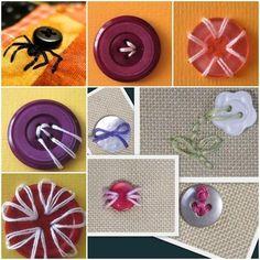 Cómo coser un botón inusual