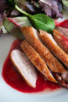 Roasted Duck Breasts with Raspberry and Orange Sauce | Comfort Bites
