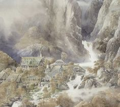 Rivendell by Alan Lee