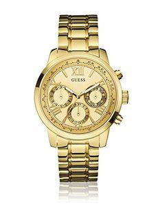 I ❤ COLOR ORO ❤ DORADO ❤Guess Reloj de cuarzo Woman W0330L1  42 mm