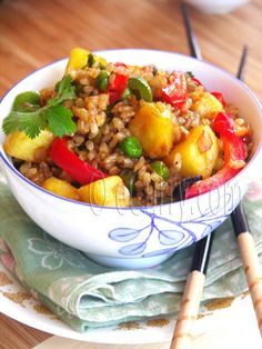 Brown Rice and Pineapple Fried Rice by Soma.R, via Flickr