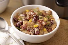 Santa Fe slow cooker baked beans