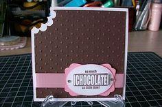 "Eat Chocolate-CTMH ""a chocolate affair"" stamp"
