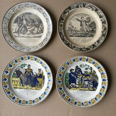 Plates made by Montereau France c.1825-1830