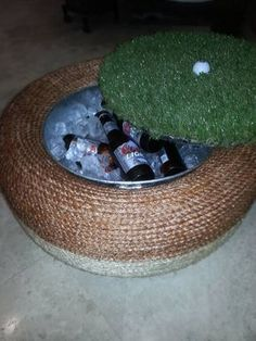 35 Inventive Tyre Recycle Projects — RenoGuide - Australian Renovation Ideas and Inspiration - Diy-recycling Home Crafts, Diy Home Decor, Tire Ottoman, Reuse Old Tires, Recycled Tires, Reuse Recycle, Recycled Crafts, Tire Craft, Tire Furniture