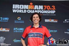 Este domingo nuestra socia Verónica Arriagada junto a más de 30 chilenos estará compitiendo en el Mundial Iron Man 70.3 en Australia (1.9k natación 90k ciclismo y 21k trote) . Foto: @trichile.cl
