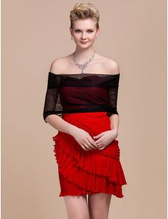Tulle Party / Evening Jacket / Wrap (More Colors) - USD $ 29.69
